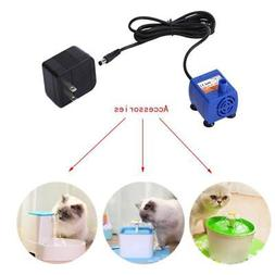 US Pet Plastic Water Fountain Pump Submersible Dog Drinking