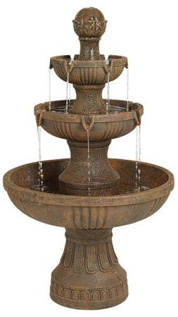Water Fountain 3 Tier Garden Patio Courtyard  Italian Style