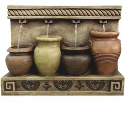 water fountain CEMENT POTS WALL HANGING FTN