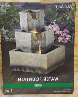 Ashland Water Fountain Garden Summer LED Textured Indoor Out