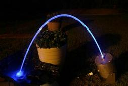 Water Jet Laminar Color LED Light stays inside a stream of w