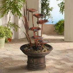 "John Timberland Water Lilies and Cat Tails 33"" High Fountain"