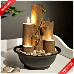Indoor Tabletop Fountain Water Waterfall Zen Relaxation Soot