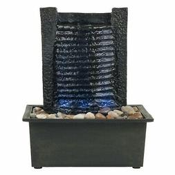 Pure Garden LED Waterfall Tabletop Fountain