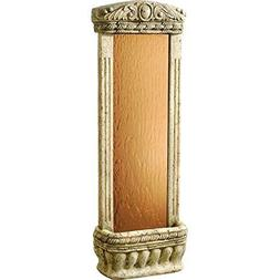 "Watergarden Fountain with Bronze Mirror, 48""H x 16""W x 8""D,"
