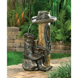 Cascading Fountains - Wild Western Water Fountain Rustic Fin
